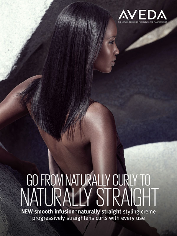 Naturally Straight helps fight the frizz