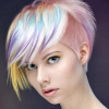 Rainbow fashion colors for hair are available at belle Aveda salon & spa in Sioux City for massage, blowouts, haircut, hair color, bridal hair & makeup