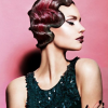 Retro hair styling is available at belle Aveda salon & spa in Sioux City for massage, blowouts, haircut, hair color, face & body waxing and facials