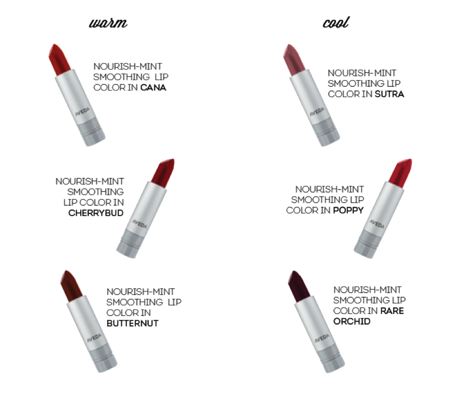 bold lip - aveda makeup